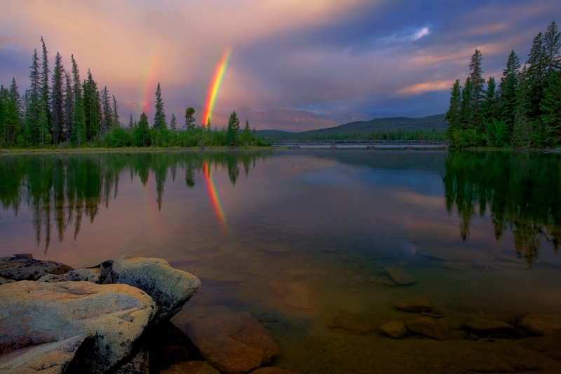 Pyramid Lake Double Rainbow