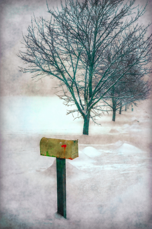 Mail Box In The Snow