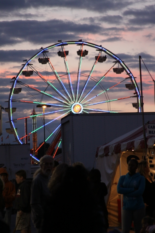 The Fair At Sunset