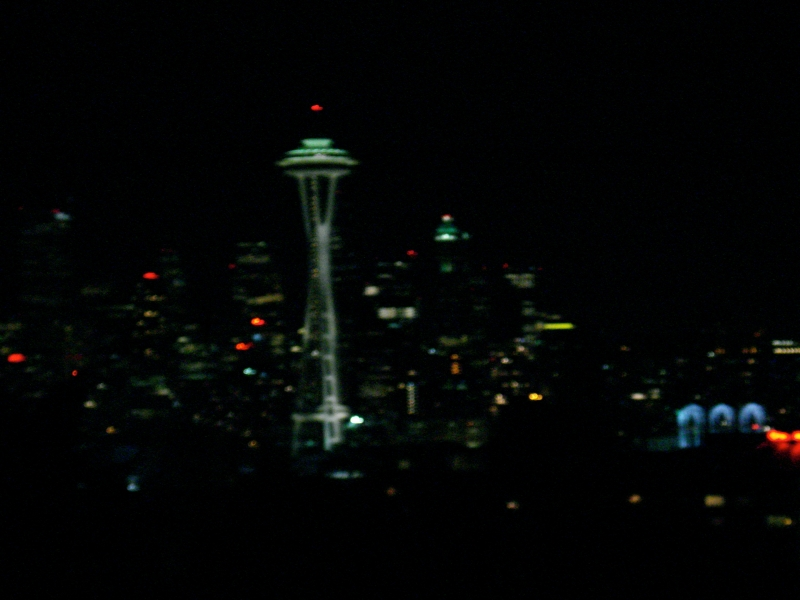 Seattle At Nighttime