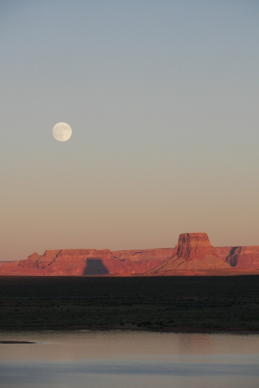Moon Rise At Lake Powell