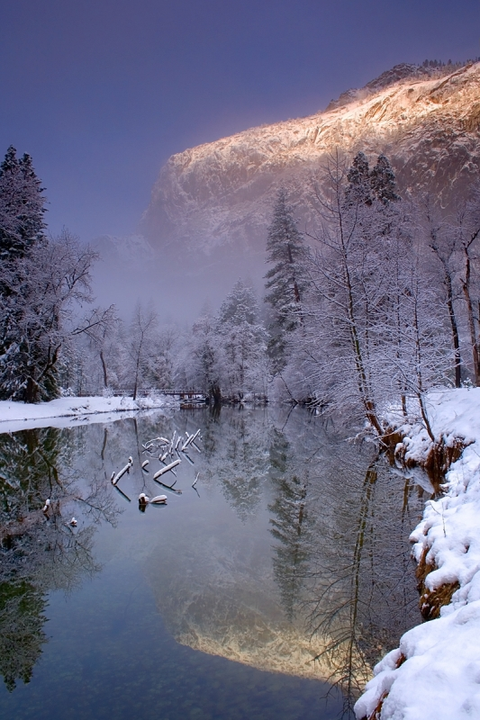 Misty Merced River Reflection