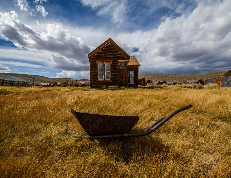 Wheel Barrel In Bodie