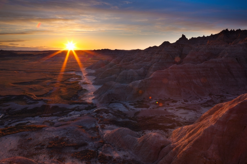 Sunset Over The Badlands