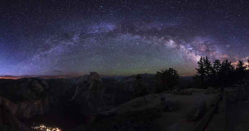 Milkyway Panorama At Glacier Point