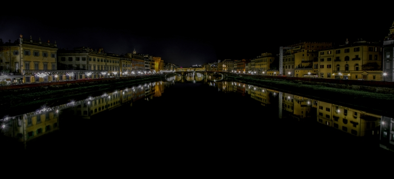 Florence River At Night
