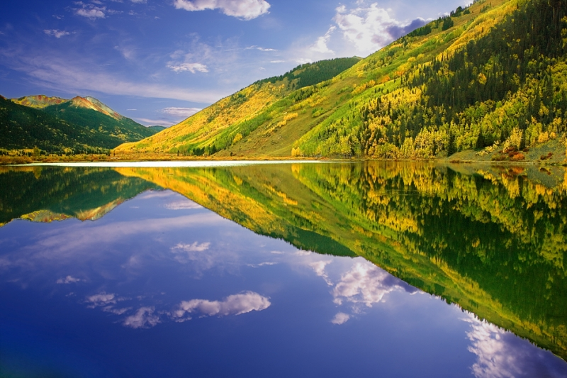 Colorado, Ouray, San Juan Mountain, Reflection