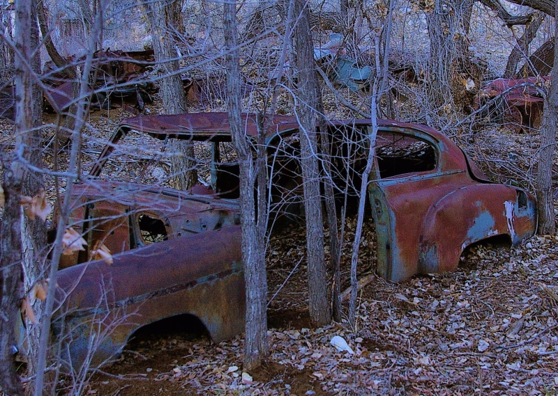 Graveyard Of The Rusted Automobiles