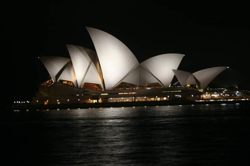 Sydney Harbor Opera House At Night