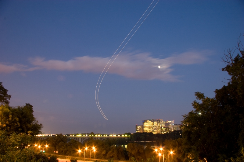 Plane Over Key Bridge