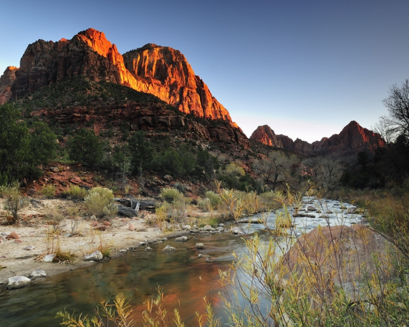 Last Light At The Watchman
