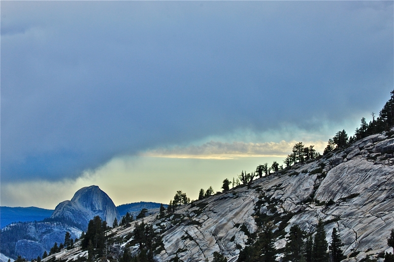 Storm Approaching Half Dome