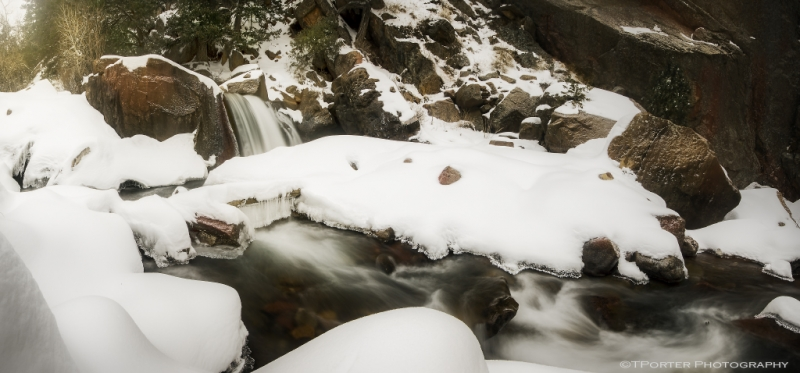 Eldorado Canyon Winter Falls
