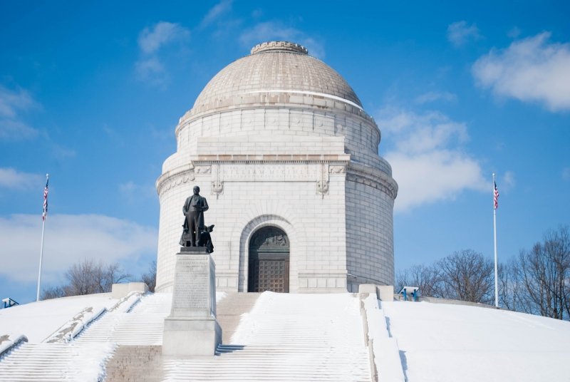 Winter  Mckinely Monument