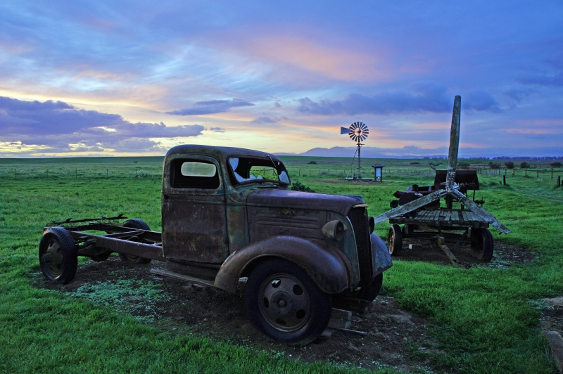 The Old Truck At Sunrise