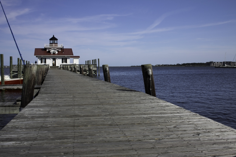 Manteo Pier And Lighthouse