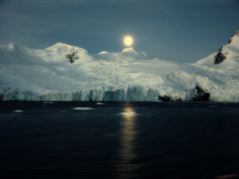 Moonrise In Antarctica