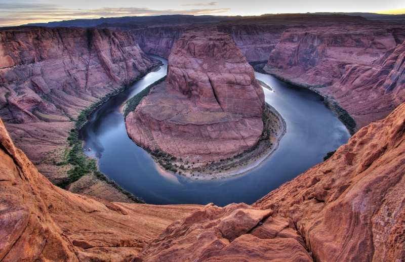 Twilight-horseshoe Bend