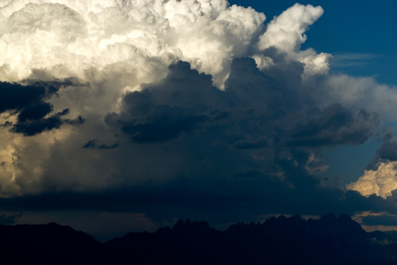 Thunderhead Above Mountains Near Las Cruces, New Mexico