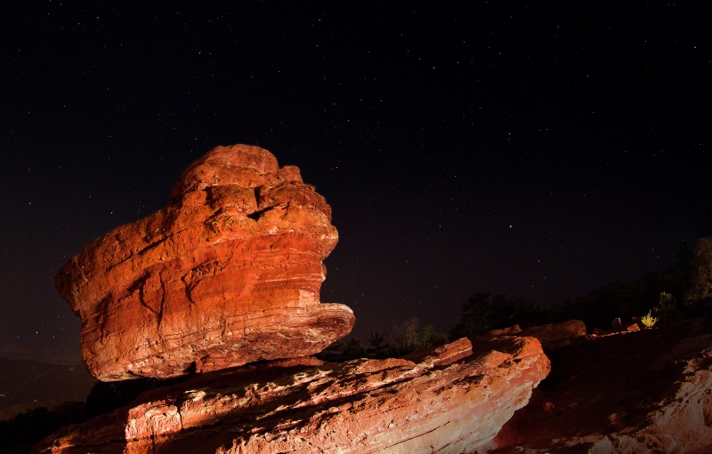 Balanced Rock By The Headlights