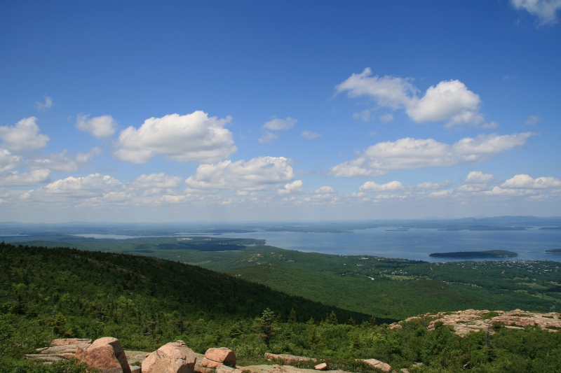 On Top Of Cadillac Mountain In Acadia National Park, Maine