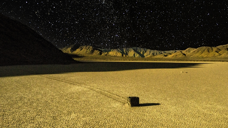 Moonlit Racetrack Playa, Death Valley