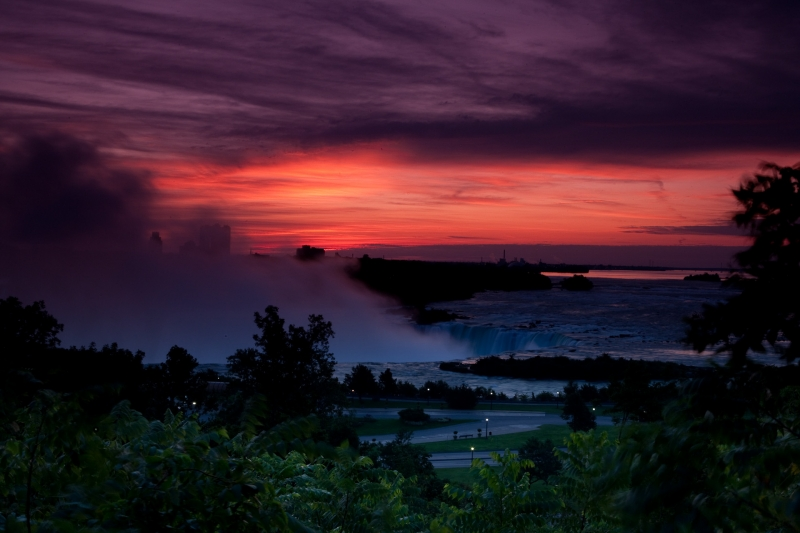 Niagara At Sunrise