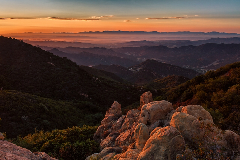Santa Monica Mountain Sunset