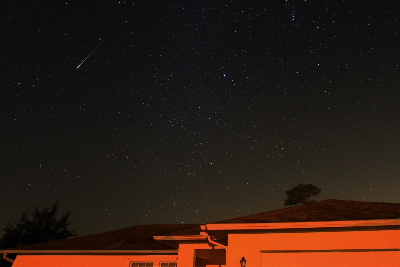 Orionids Meteor Streaks Over Naples Florida