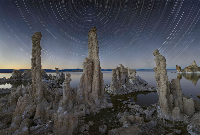 South Tufa Star Trails, The Trinity, 11-5-12