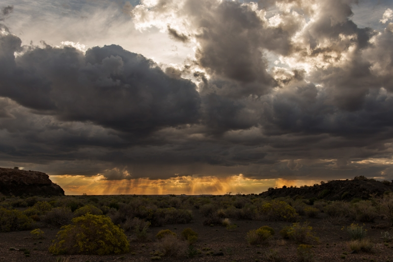 Storm, At Sunset, Petrified Forest National Park
