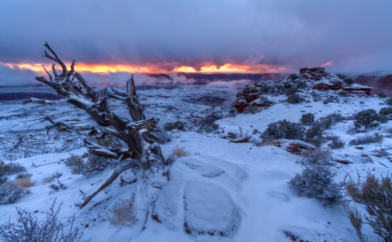 Orange Canyon Winter Sunset – Canyonlands National Park