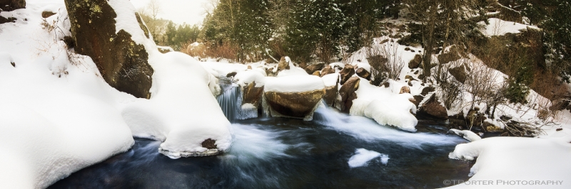 Panoramic Winter Falls