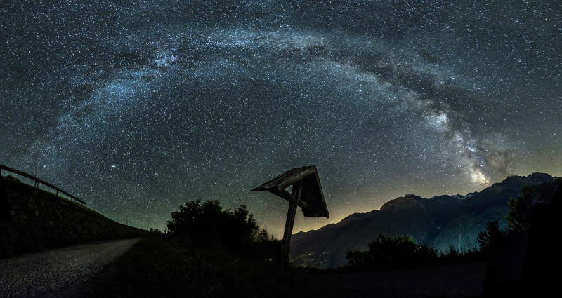Milkyway Over The Alps