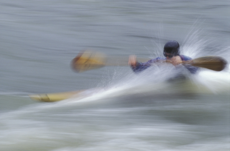 Kayaker In Rain