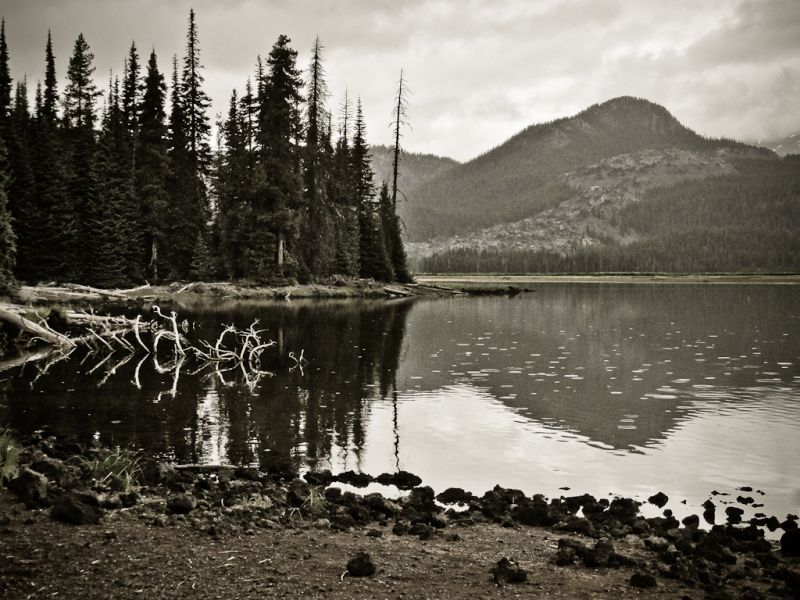 Rainy Day At Sparks Lake