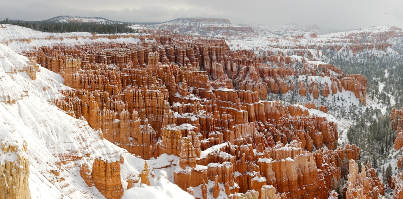 Bryce Canyon Under A Blanket Of Snow