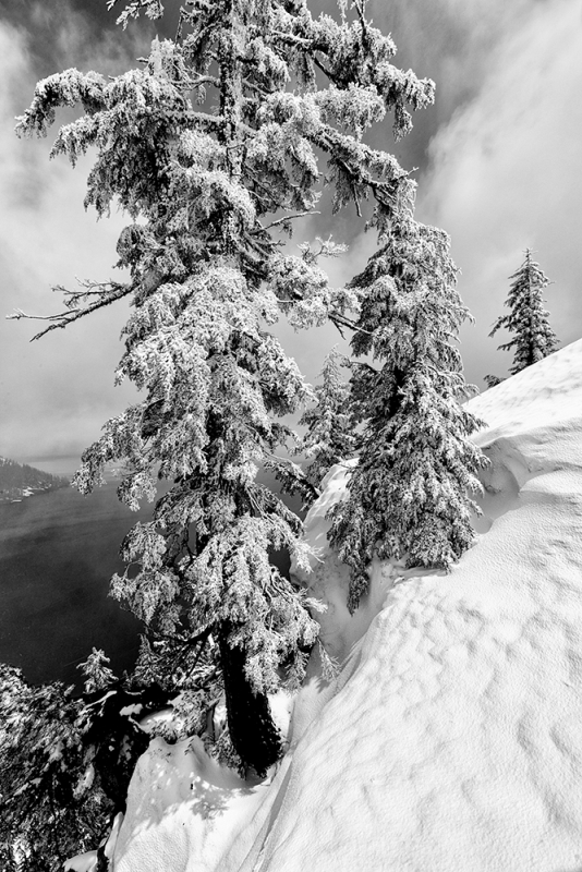 Snowstorm, Crater Lake, Oregon