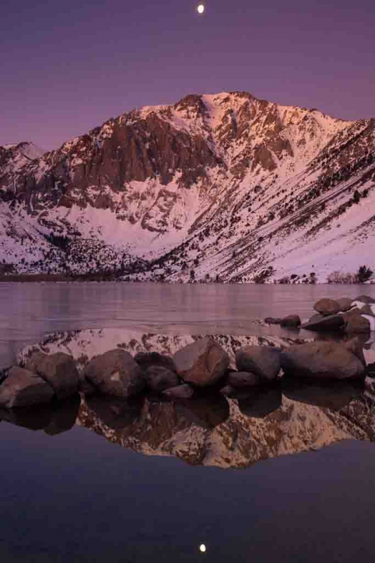 Frozen Convict Lake (eastern Sierra)