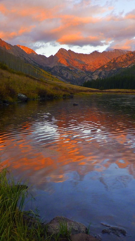 Piney Lake Autumn Alpenglow