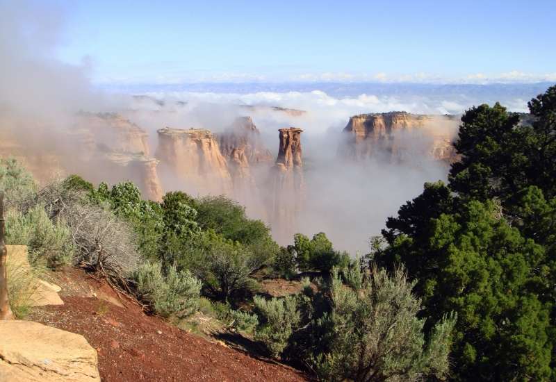 Fog In Monument Canyon