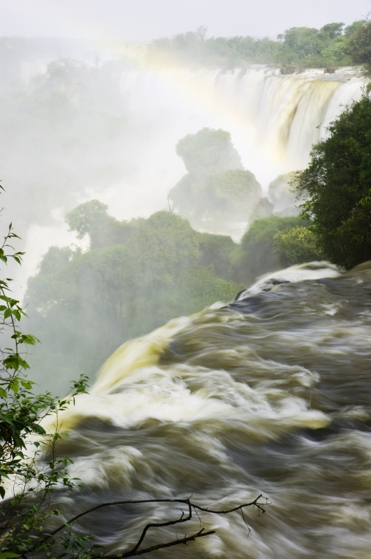 Iguazu Falls And Ranbow