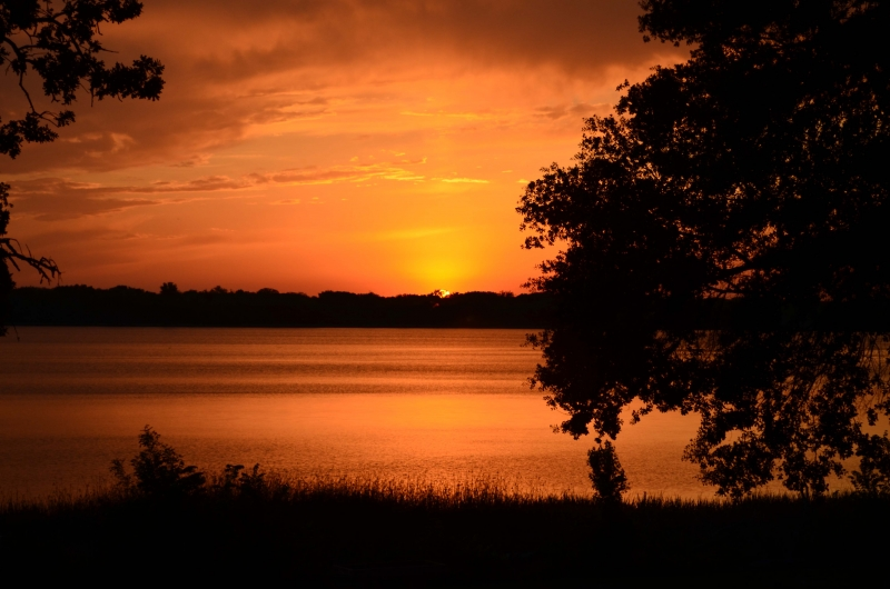 Sunset At Fort Parker Texas