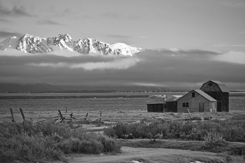 Wyoming, Grand Teton National Park, Mormon Barns ,