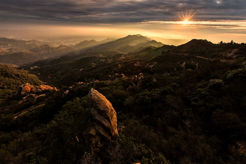 Sunrise Of The Santa Monica Mountains