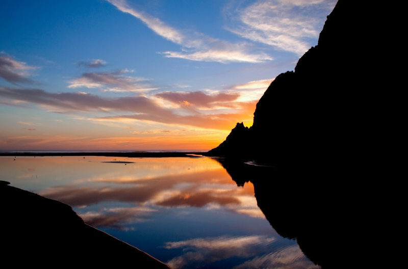 Sunset At Karekare Beach Nz