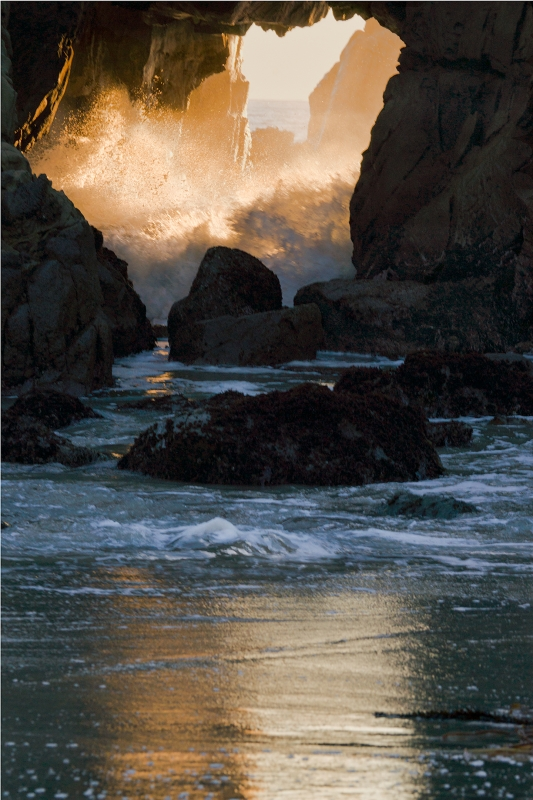 Pfeiffer Sea Cave  At Sunset