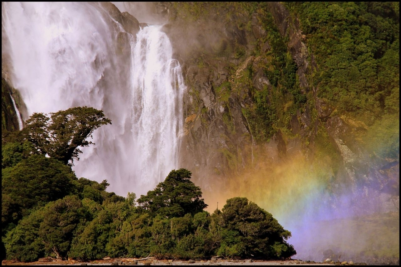 Bowen Falls In Milford Sound