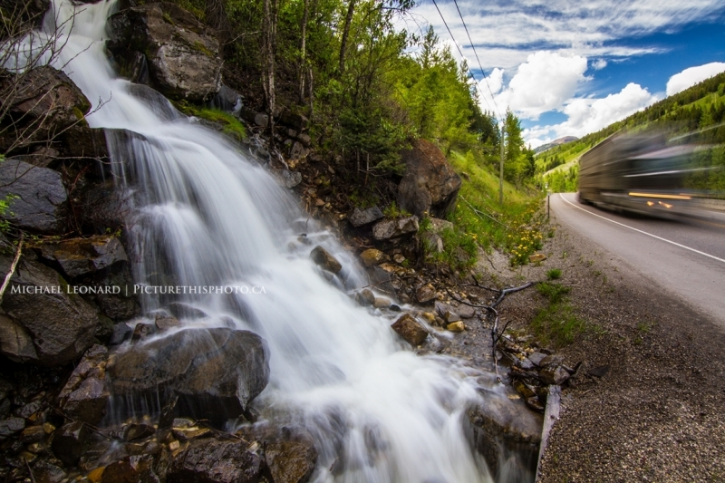 Roadside Waterfall, Crowsnest Highway, Bc