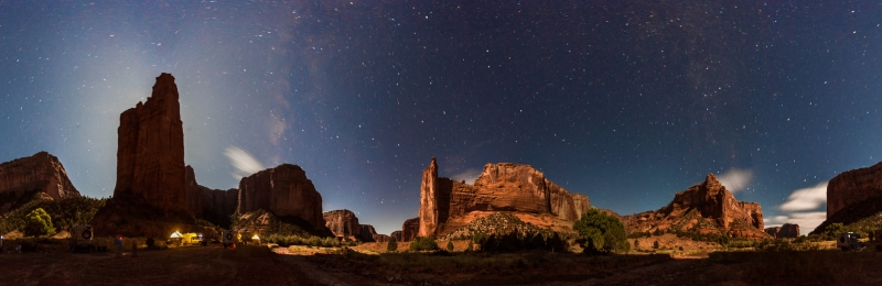 Night Time In Canyon De Chelly
